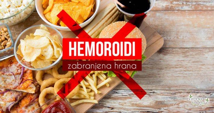 zabranjena hrana kod hemoroida